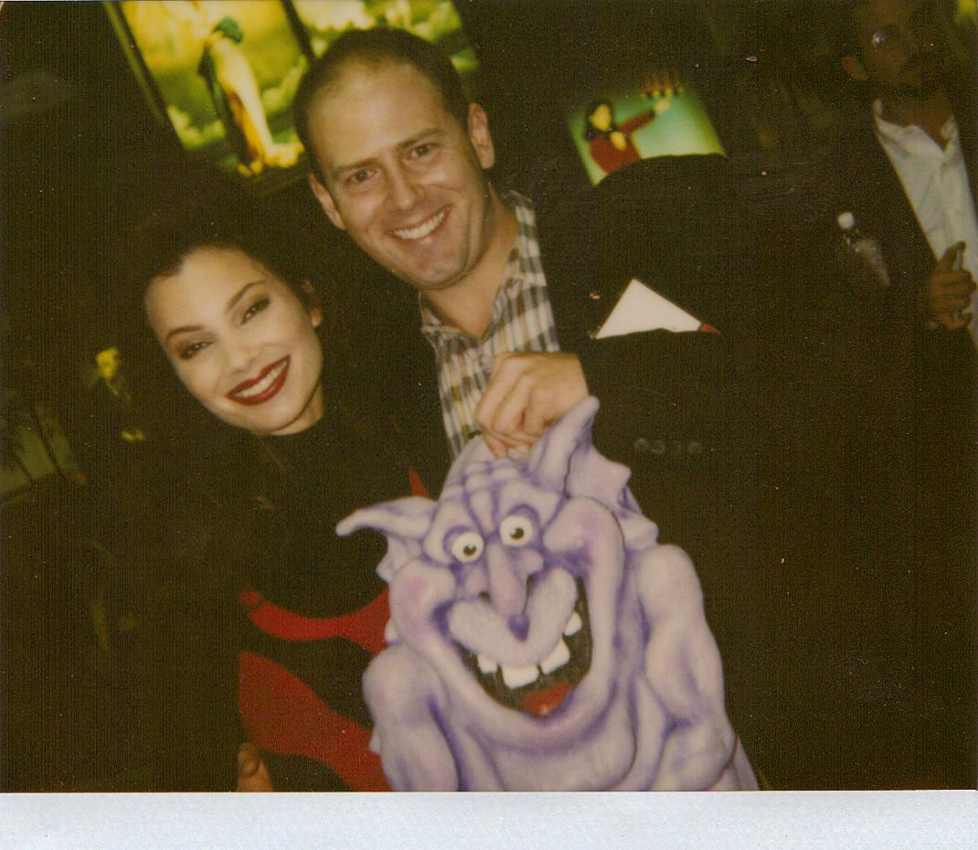 4fcb79e93d3 Tom and Fran Drescher with Happy Creature Large Backpack