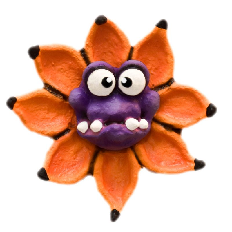 Monster Flower Magnet in Orange